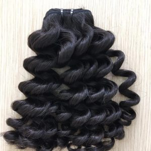 Weft S10 – Loose Curly Natural Black VietNamese Woman Weft Hair