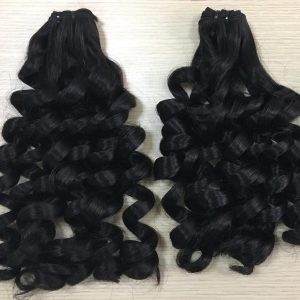 Weft S11 -Giant Curly Natural Black VietNamese Woman Weft Hair