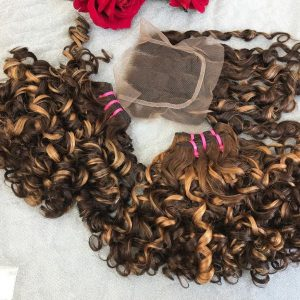 C2-Capuchino Vietnamese best quality weft hair