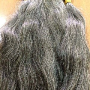 Grey natural colour Vietnamese best quality hair