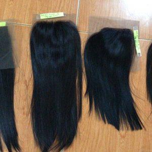 Closure 4×4 Bone Straight Virgin Remy Hair