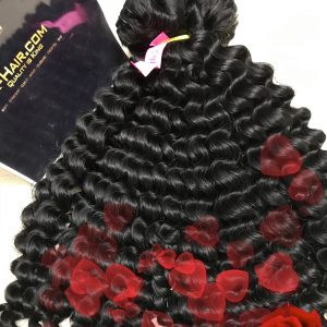K14 – Water Curly Vietnamese best quality weft hair