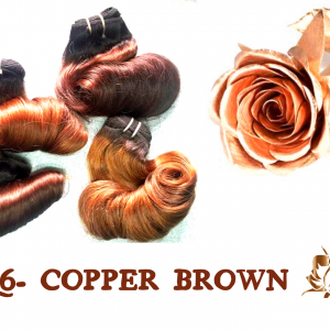 C6- Copper Brown Vietnamese best quality weft hair