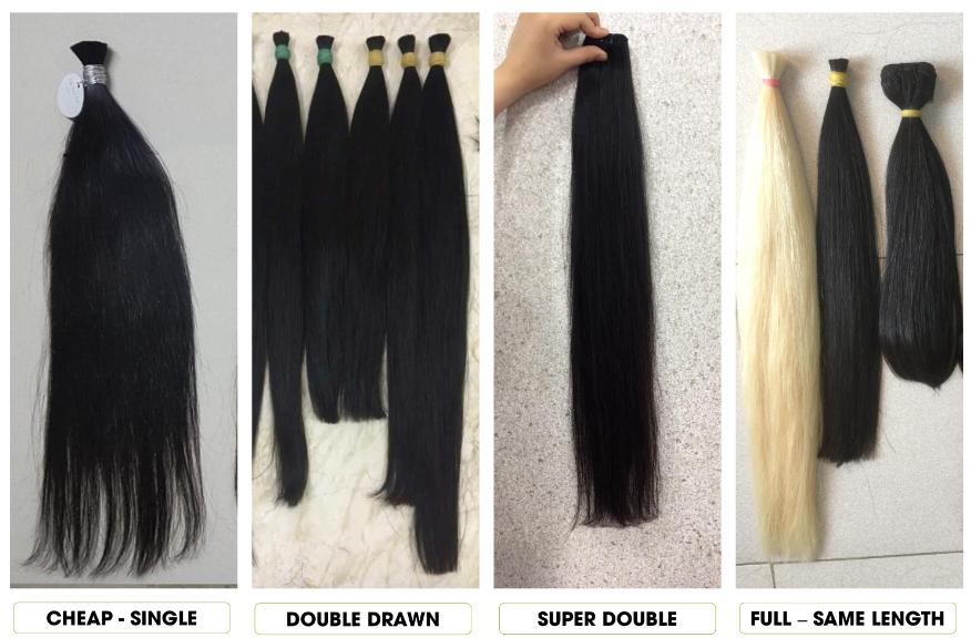 Grade of weft hair extensions
