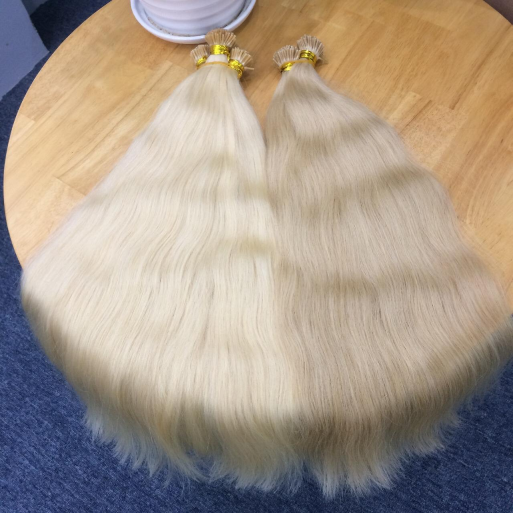 Quality of tip hair extensions All tip in hair in K-Hair is made of 100% human hair, fullest hair. We specialize support I tip hair with diversity colors including #1b, #1, #2, #4, #6, #8, #10, #12, #14, #16, #18, #20, #22, #24, #27, #30, #60, #613, #99j, red, etc and available hairstyles such as deep wave, loose wave, kinky curly, straight, etc. All processes from producing tip hair to shipping products for customers are checked and monitored closely by skilled workers. If you want to order any of our products, please contact us, we will serve you 24/7.