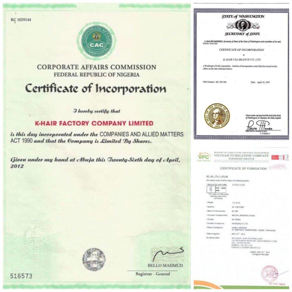 K-Hair-Certificate