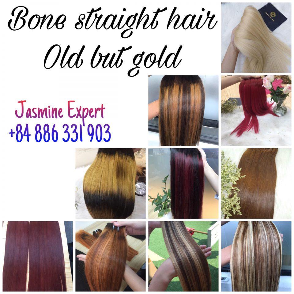 Colorful-Bone-straight-Hairstyle-2020-Christmas-Season