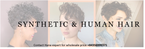 synthetic and human hair article
