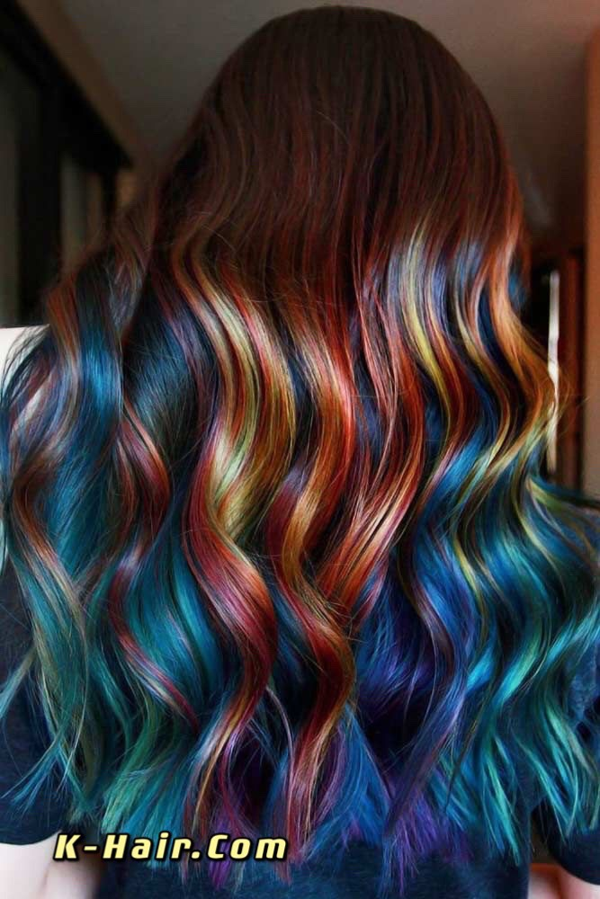 Colorful Ombre Hair by K-Hair
