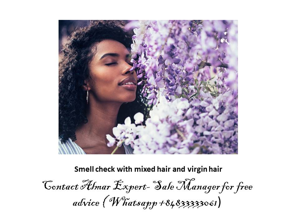 Smell check with mixed hair and virgin hair