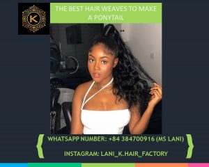hair weaves to make a ponytail 1