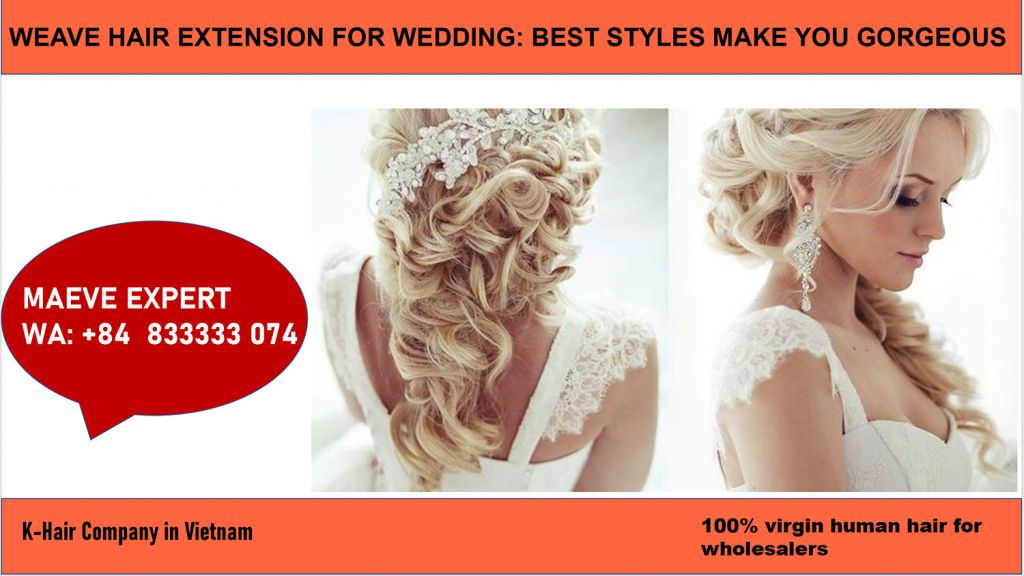 how to have a beautiful weave hair extension for wedding