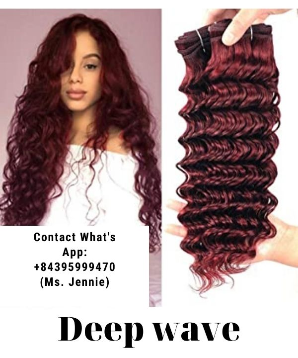 impressive-weft-hairstyles-using-for-first-date-red-wine-deep-wave