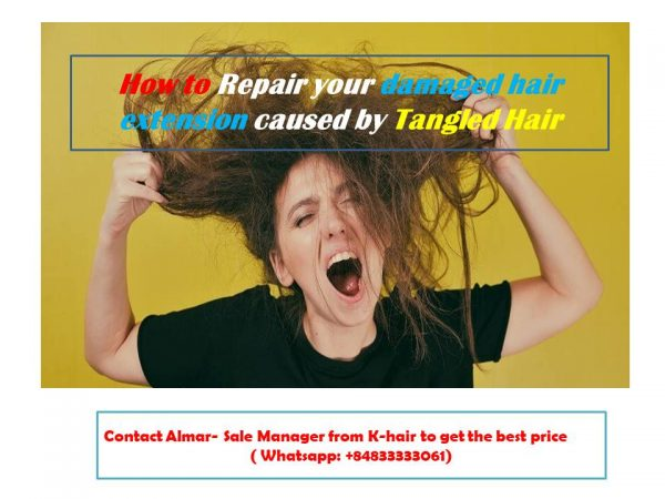 How to Repair your damaged hair extension caused by Tangled Hair