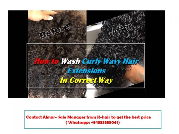 How to Wash Curly Wavy Hair Extensions In Correct Way