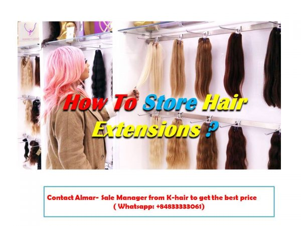 How to store the hair to prevent from damaged hair extensions