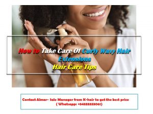 How to take care of your curly wavy hair extensions