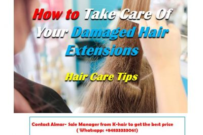 How to take care of your damaged hair extension