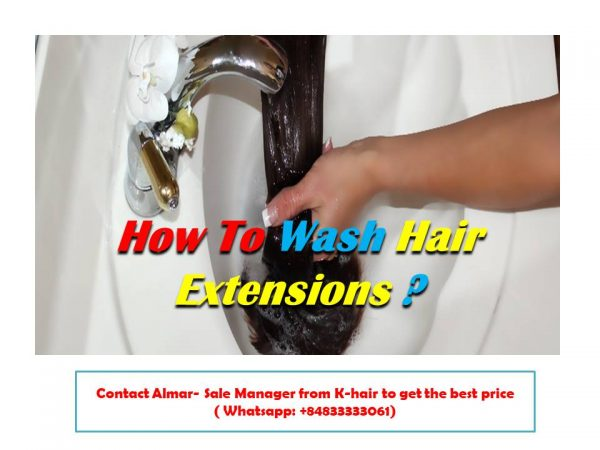 How to wash the hair to prevent from damaged hair extensions?