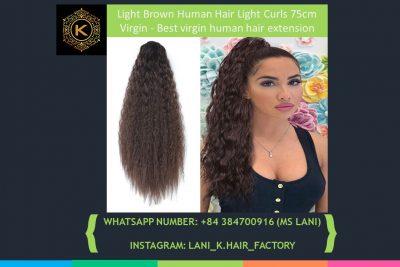 Light Brown Human Hair Light Curls 1