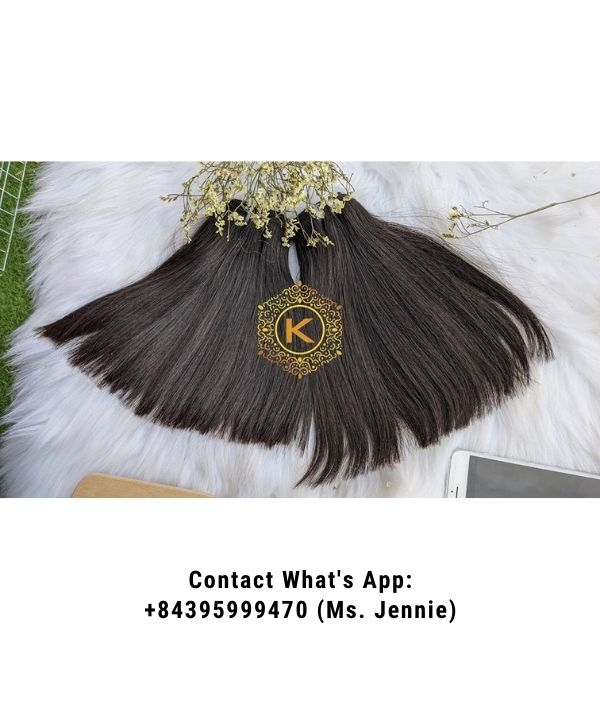Vietnamese-Double-drawn-weft-straight-hair-Extension-K-hair-factory
