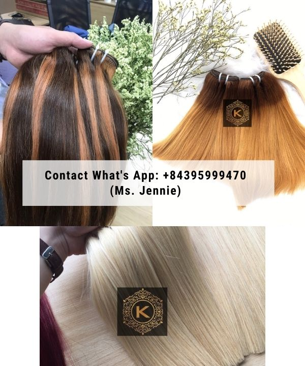 Vietnamese-Double-drawn-weft-straight-hair-Extension-colored-hair