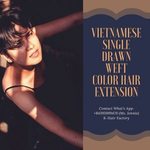 Vietnamese-Single-Drawn-weft-color-hair-Extension-k-hair-factory