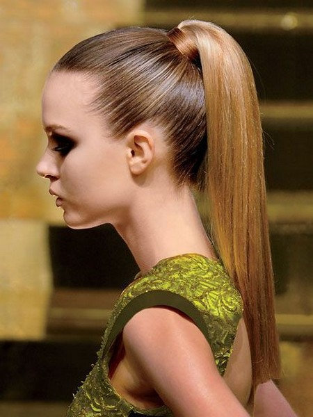 high ponytail hairstyles for thin hair