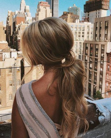 Low Ponytail. - Soft And Romantic Ponytail Look.