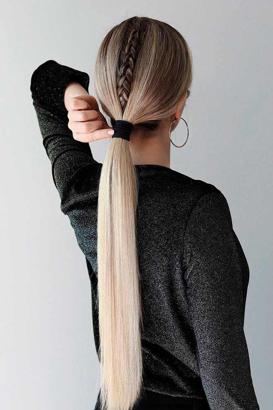 Ponytail With Braids. - Intricate And Impressive Ponytail In Minutes.