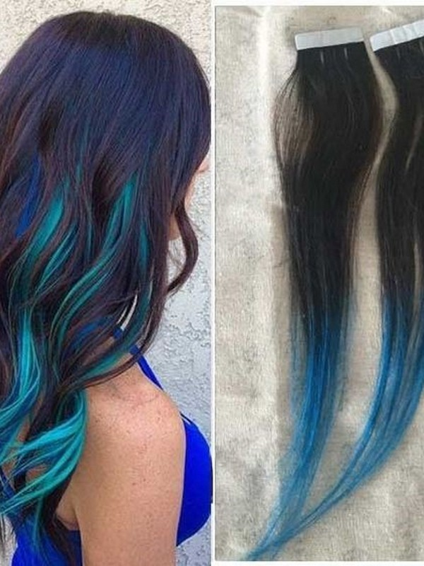 Blue. - Hair Extension Colors For Baddies.