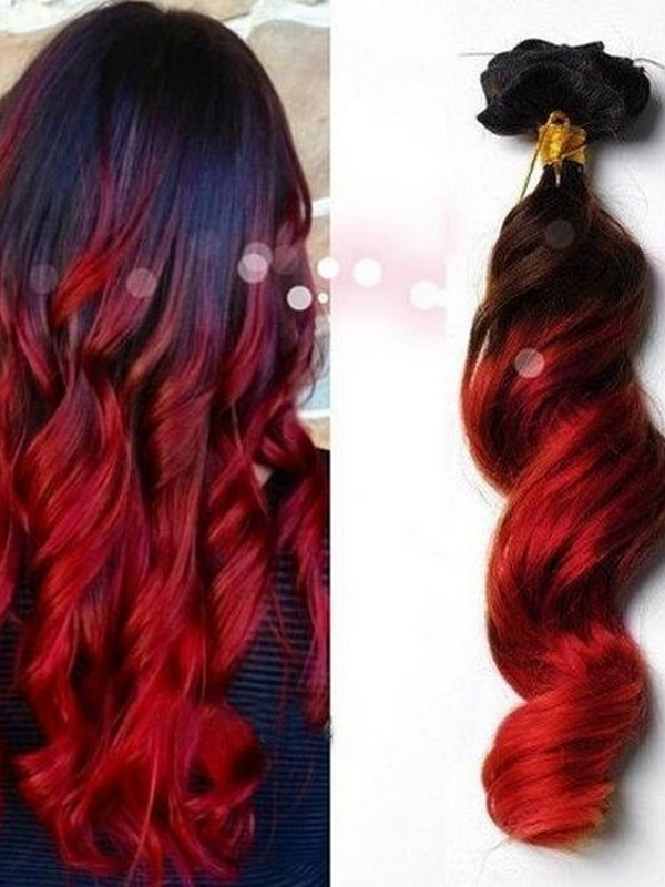 Red. - Passionate Hair Extension Colors.