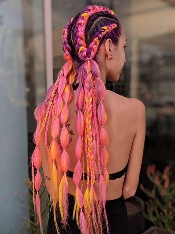 Pink. - Festive Hair Extension Colors.