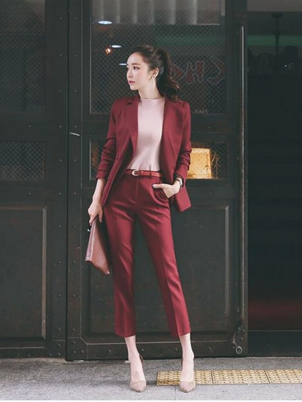 Burgundy Color Suits For Women