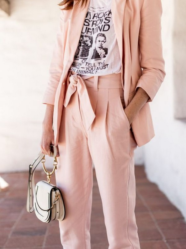 Suits For Women With A Simple Tee