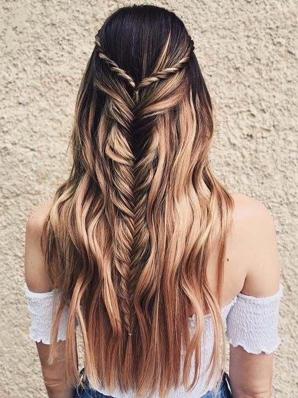 Half Up Fishtail - Elegant Ways To Wear Hair Extension.