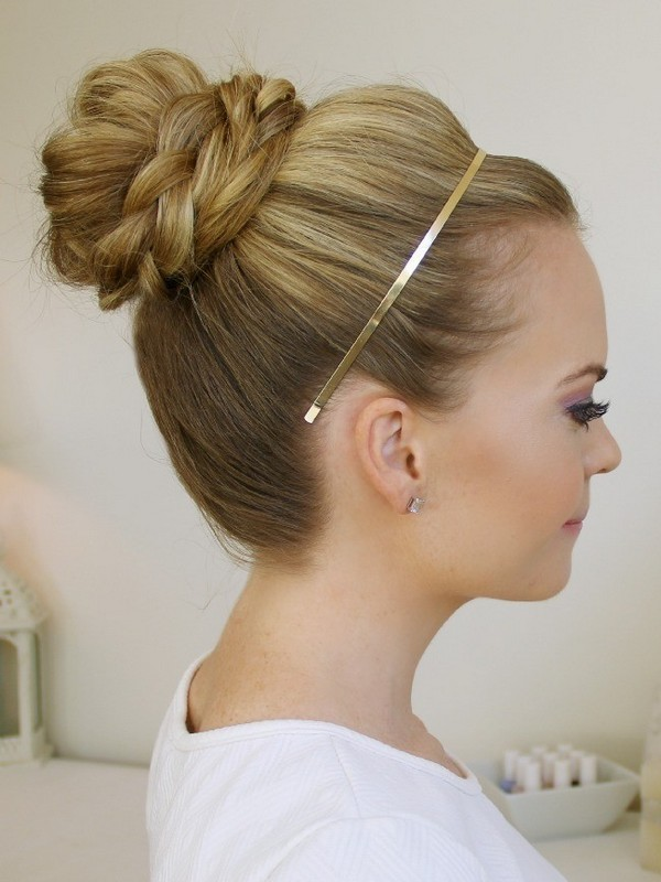High Braided Top Knot - Best Updos For A Glam Look