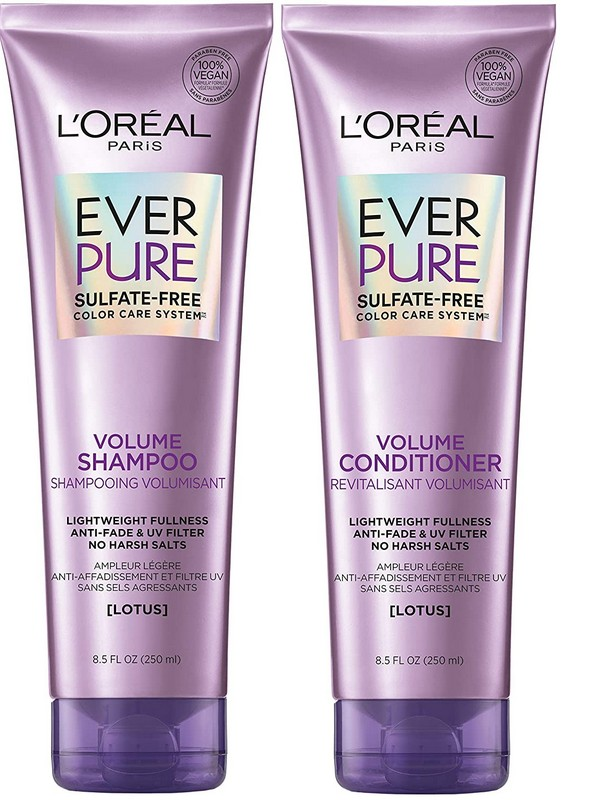 L'Oréal Paris Hair Care EverPure Volume Sulfate-Free Conditioner - Budget Conditioners For Fine Hair