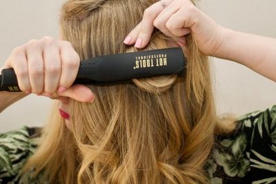 curl your hair with a flat iron