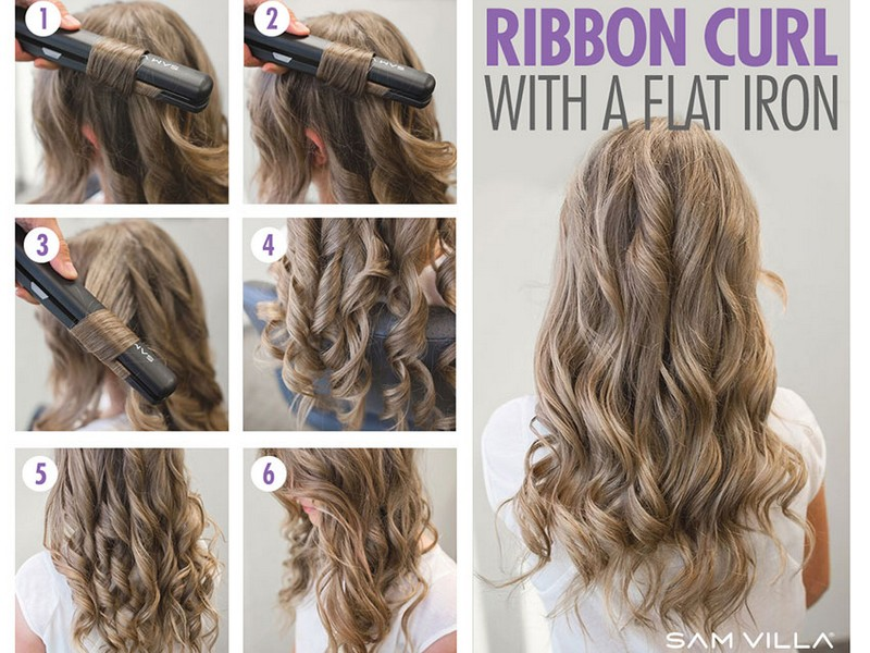 How To Recreate The Best Curly Look By Trying The Curl Your Hair With A Flat Iron Method