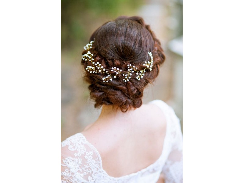 Updo for Natural Curly Hair. - Curly Hairstyles For Special Occasions.