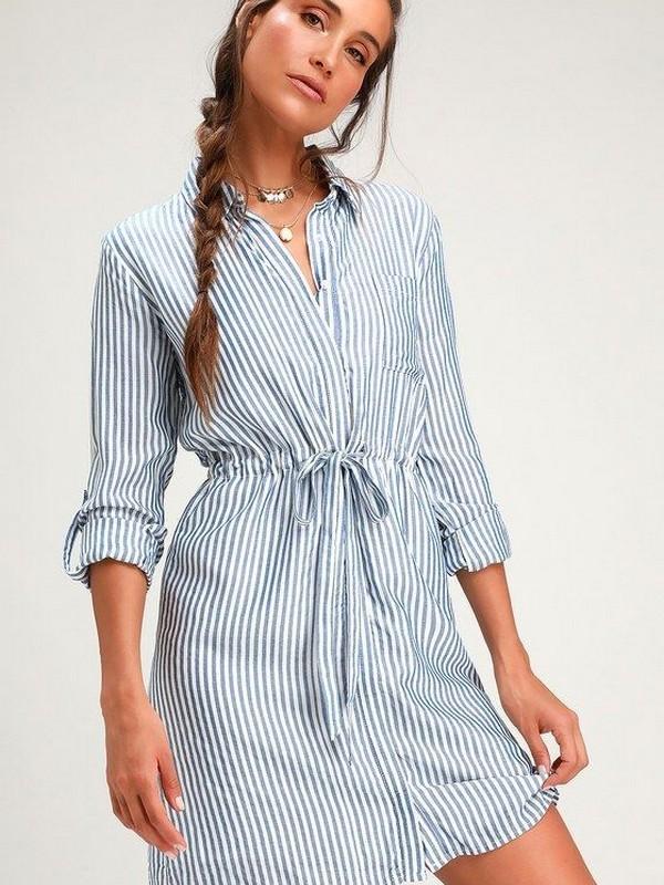 A Shirt Dress - Simple Dresses