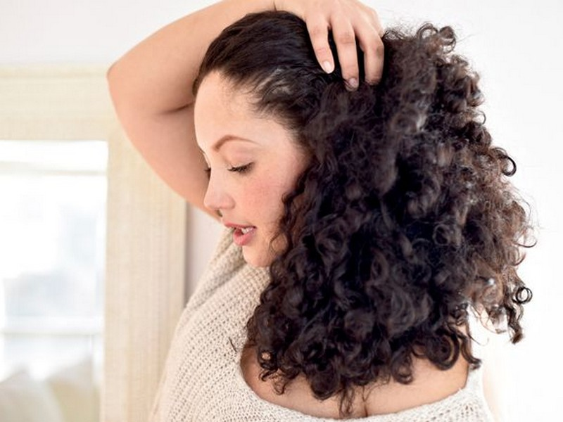 dry curly hair properly