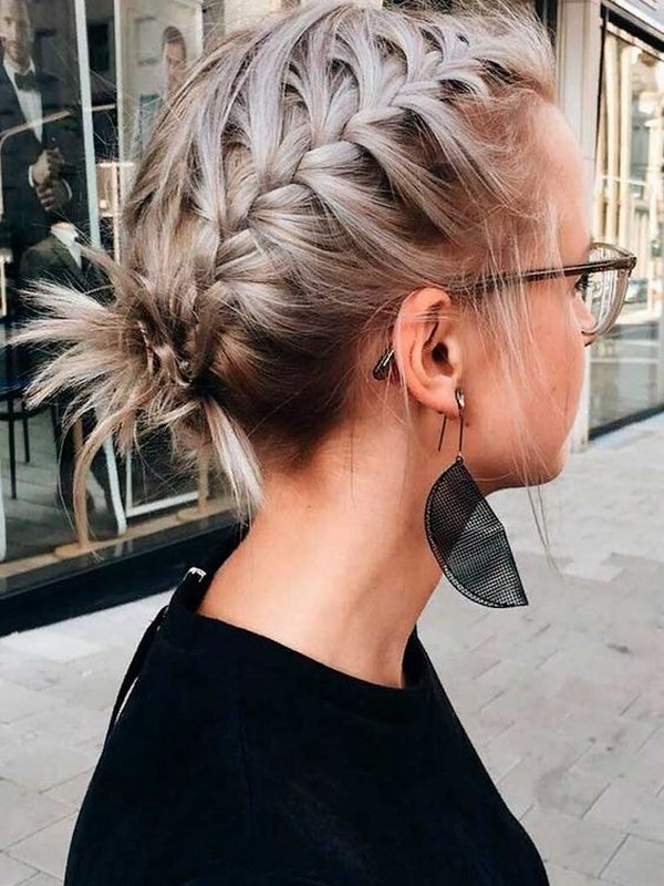 French Pigtail Braids - Easy Braids For Short Hair