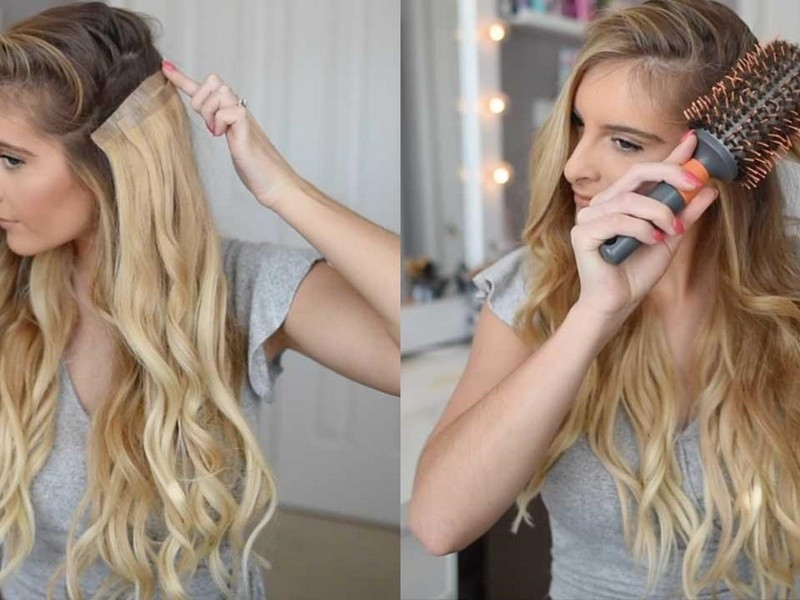 The Classic Waves. - Classy Hair Extension Styles For Long Hair.