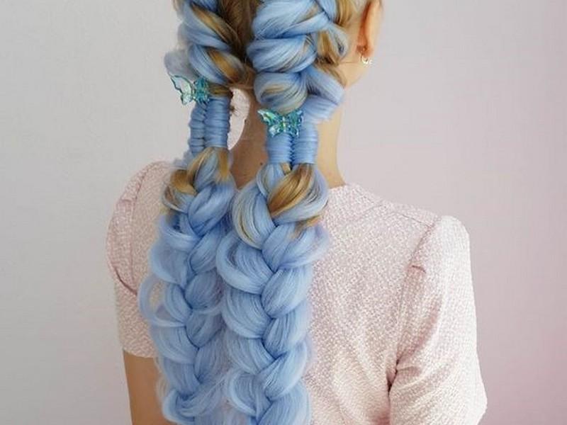 Braids. - Fun And Creative Hair Extension Styles For Long Hair.