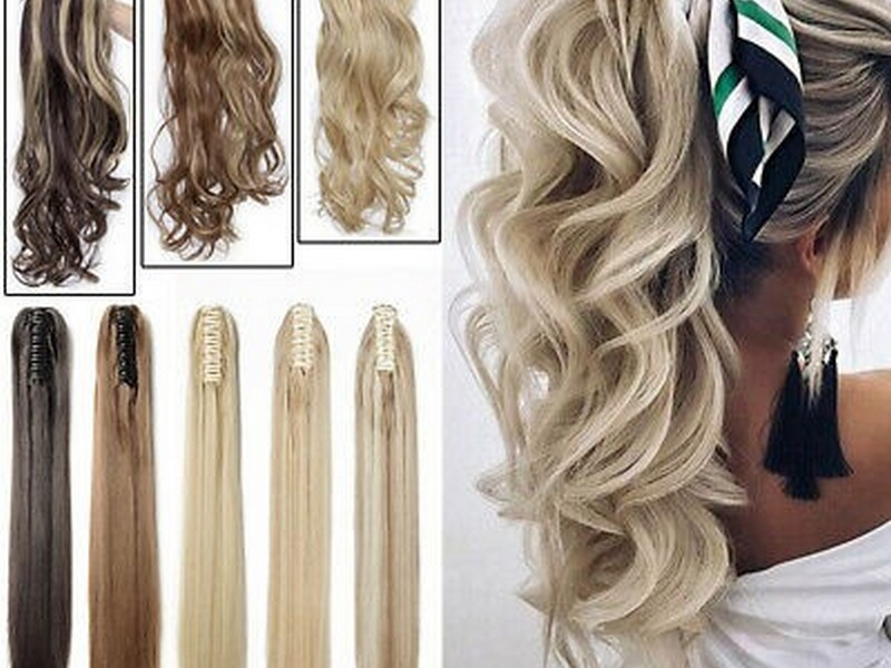 Ponytails. - Chic Hair Extension Styles For Long Hair.