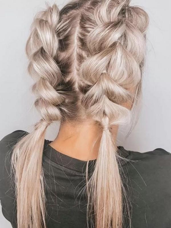Pull Through Braid - Beautiful Hair Extension Styles For Straight Hair.