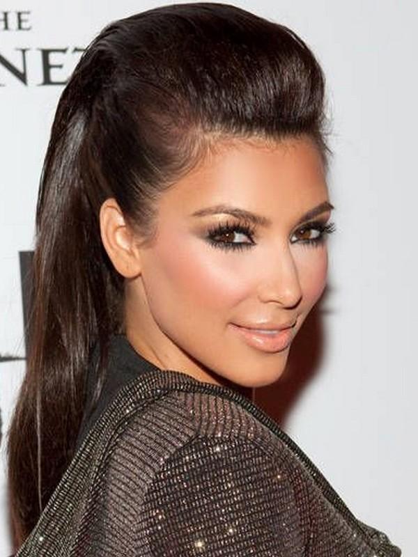 Sleek Pompadour - Glamorous Hair Extension Styles For Straight Hair.