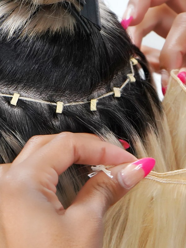 Hand-tied Wefts - Natural Hair Extensions For Fine Hair.